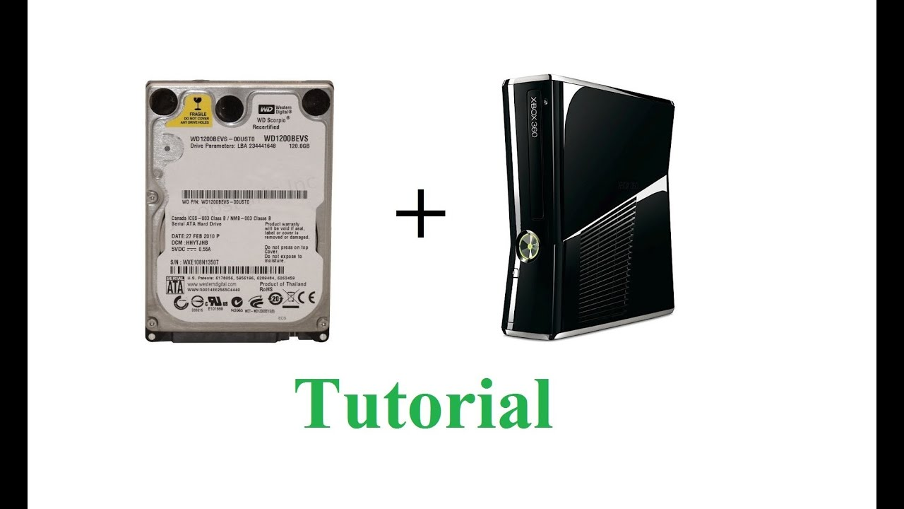 How to use a laptop hard drive in an XBOX 360 slim using HDD HACKR v1 30