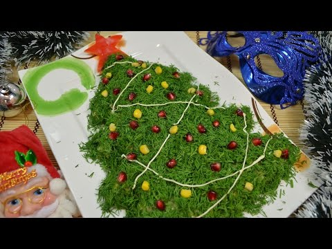 Видео: Салат на новый год   Елочка