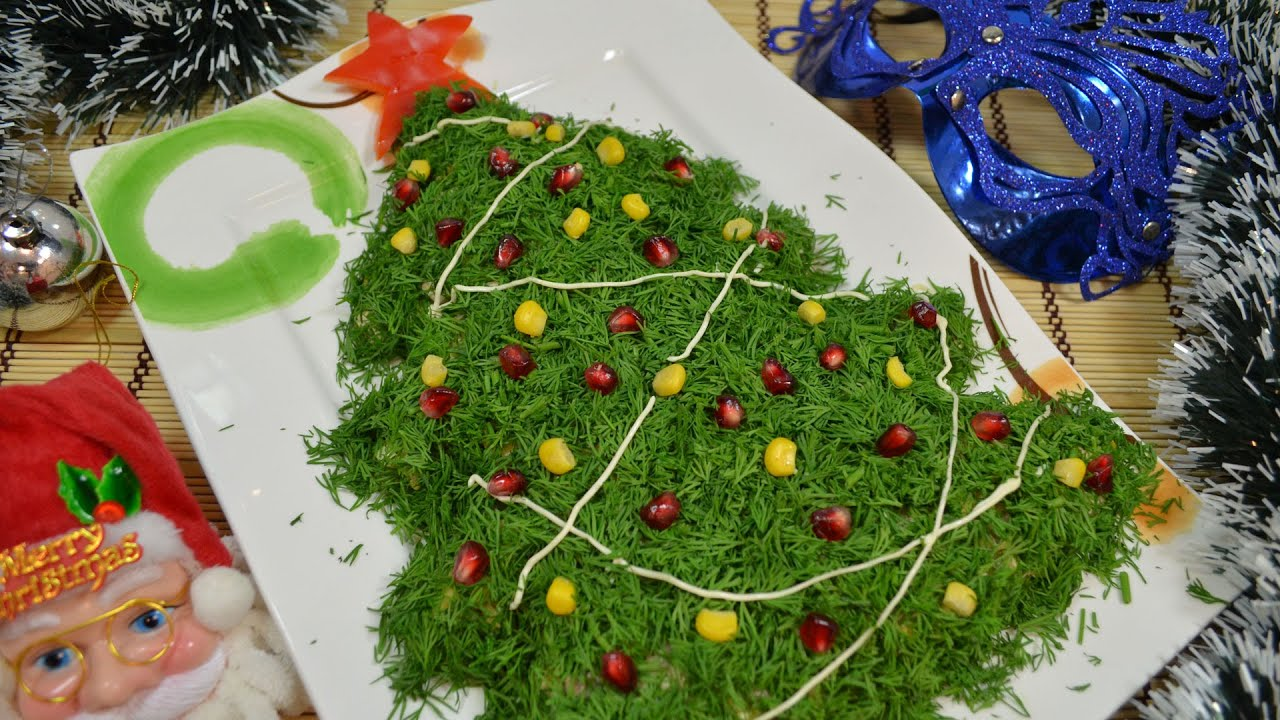 Новые рецепты салатов на Новый год 2017
