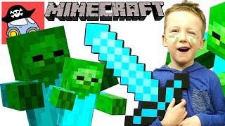 🎯 Охота на ЗОМБИ в Майнкрафт выживание в режиме Хардкор 😜 ЗОМБИ АПОКАЛИПСИС в Minecraft Жестянка