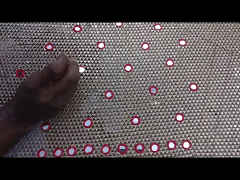 43904cdb27 Mirror work on sequence material for bridal blouse - YouTube