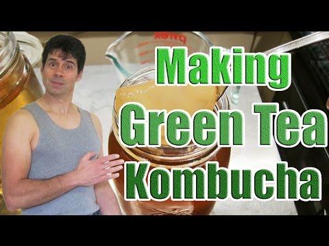 Kombucha Recipe with Green Tea (Making a Kombucha Tea Recipe Using Green Tea Bags)