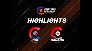 United States v Canada - Women - Highlights - Curling World Cup First Leg – Suzhou