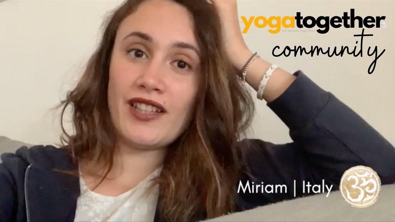 Yoga Together Testimonial - Miriam | Italy
