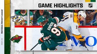 Predators @ Wild 10/24/2021 | NHL Highlights