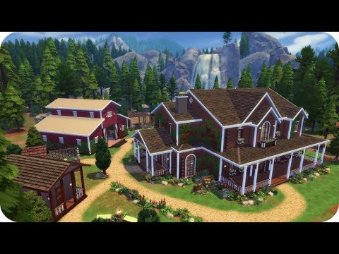 FARM HOUSE & STABLES 🐴 | Sims 4 Speed Build (Family Home)