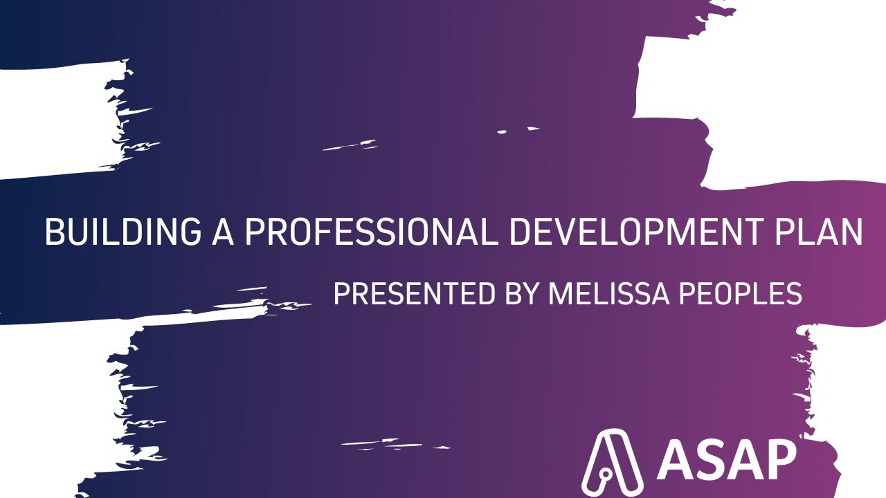 Building a Professional Development Plan