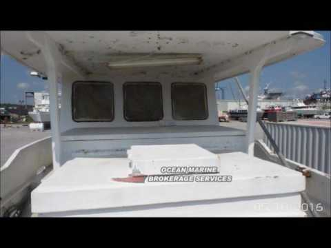 44ft Fiberglass Trawler-Longliner-Snapper Boat. File #10543ft