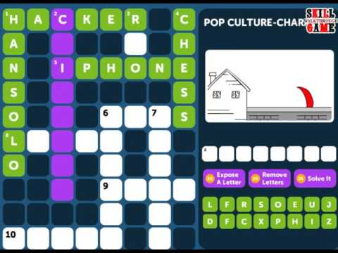 Crossword Quiz POP CULTURE Level 1 - Walkthrough