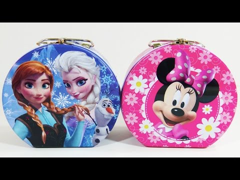 Disney Frozen Minnie Mouse Jewelry Box Surprise Toys Shopkins Disney Princess Palace Pets Zootopia