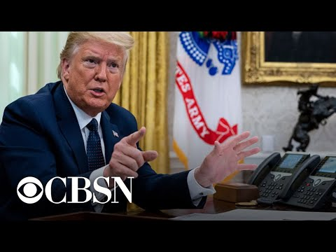 Trump and Biden respond to U.S. coronavirus death toll surpassing 100,000