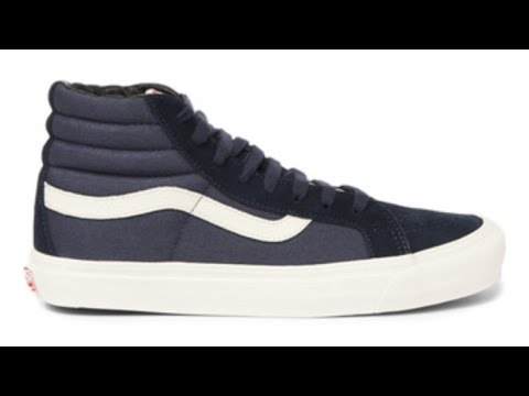 770d2f3e6f9ada Shoe Review  Vans Vault Originals OG Sk8-Hi LX (Suede Canvas) Blue  Nights Caviar