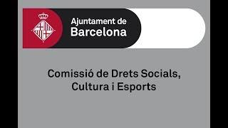 Comissió de Drets Socials, Cultura i Esports 19/11/19