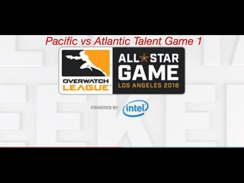 Overwatch All star Weekend: Pacific vs Atlantic Talent map 1 Full Match