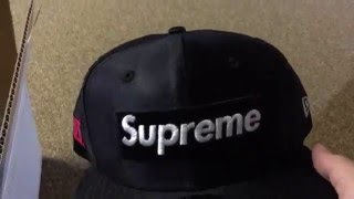 Supreme Dazzle Box Logo New Era Hat Unboxing