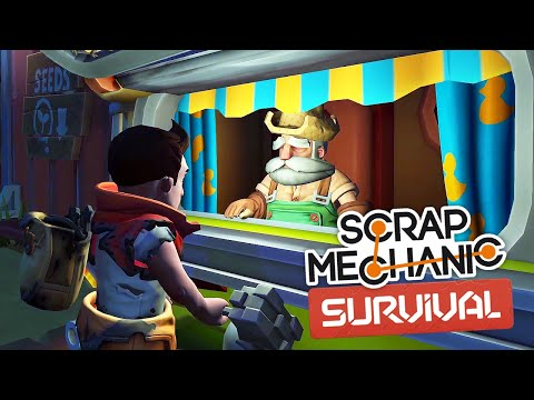 Скрап Механик Выживание. Часть 13 | Огромный бункер торговца! (Scrap Mechanic Survival)