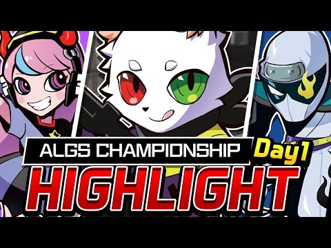 "【ALGS Championship】""CrazyRaccoon"" Day1 // Battle scene Highlight【APEX】【APEX】"