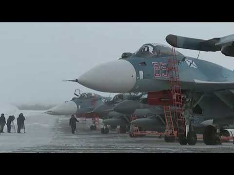 Admiral Kuznetsov's air wing returns to Severomorsk Naval Air Base.