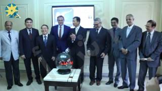 بالفيديو : وكالة أنباء الشرق الأوسط في إفتتاح الموقع الجديد لوكالة شينخوا الصينيه