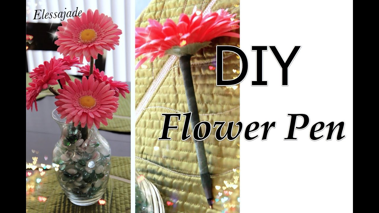 How To: DIY FLOWER Pen Bouquet - YouTube