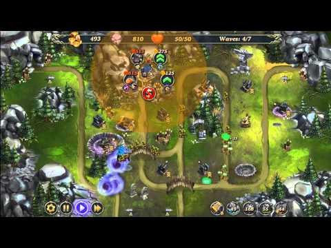 Royal Defense: Invisible Threat Wastelands Level 2-1 Hard 3 Stars