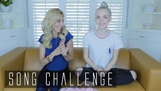 GUESS THAT SONG CHALLENGE // Madilyn Bailey & Rebecca Zamolo // Madilyn Minute