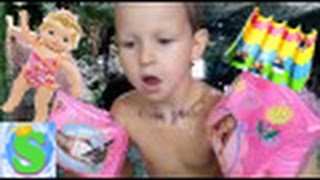 Аквапарк Джунгли/ Саша и кукла Baby Born/ Харьков/ День 2(Привет друзья!!! Я обожаю аквапарки, сегодня мы приехали в аквапарк