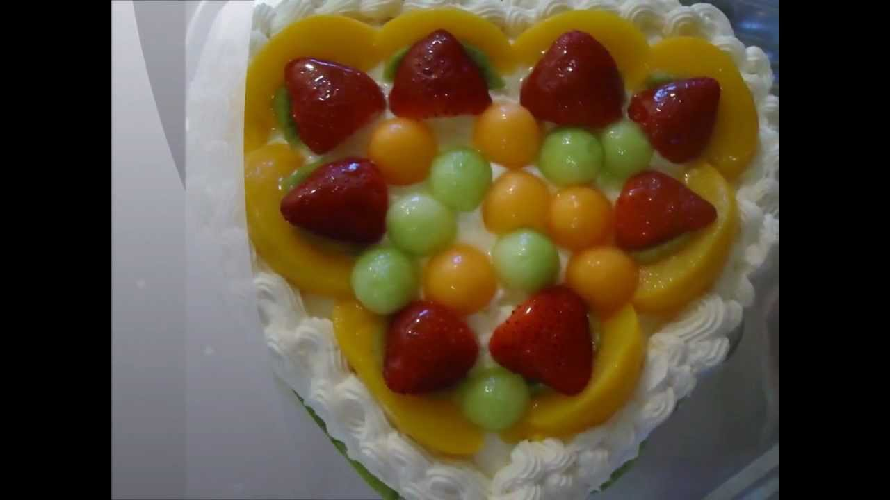 Birthday Cake Chinese Fruit Filled Sponge Birthday Cake YouTube