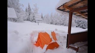 Южный урал, национальный парк Таганай зимой! Ночевка в палатке при минус 15.