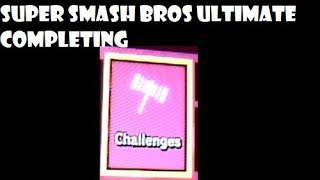 Super Smash Bros ultimate completing challenges thumbnail
