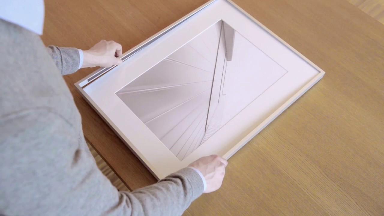 halbe picture frames the magnetic frame principle youtube. Black Bedroom Furniture Sets. Home Design Ideas
