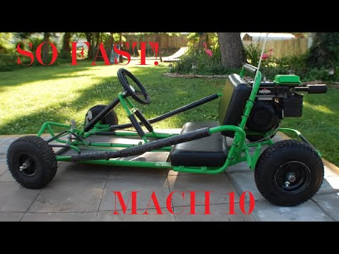 Making a go kart out of a four wheeler!!