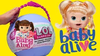 LOL Big Surprise CUSTOM Ball Baby Alive DIY ! Toys and Dolls Fun for Kids Baby Doll Play | SWTAD