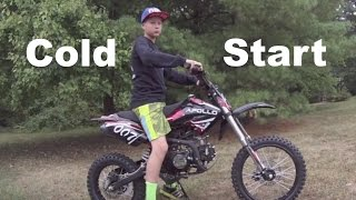 Cold Starting My Apollo 007 125cc Dirt Bike [HD]