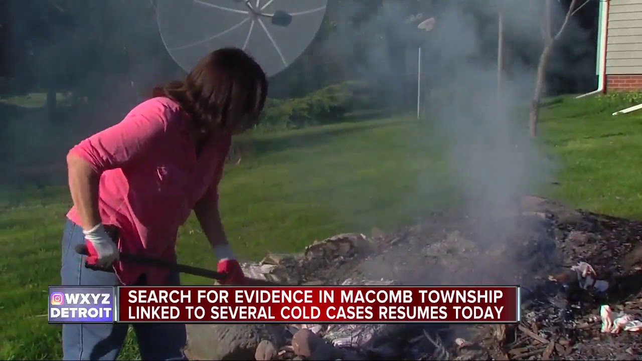Search for evidence in Macomb Township linked to several cold cases resumes