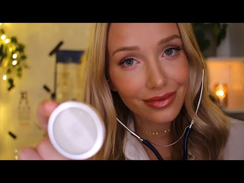ASMR Doctor Exam & X Ray   typing, gloves, tracing, personal attention...