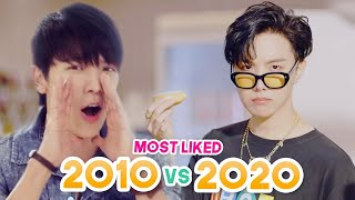MOST LIKED KPOP BOY GROUPS MUSIC VIDEOS EACH YEAR