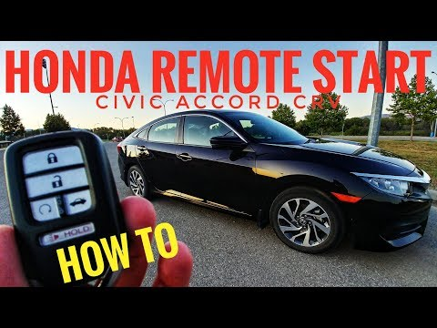 Honda Remote Start - Civic Accord CRV - 2016 2017 2018 2019