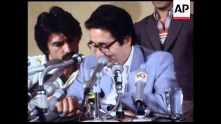 UPITN 27 04 80 IRANIAN PRESIDENT BANISADR GIVES PRESS CONFERENCE