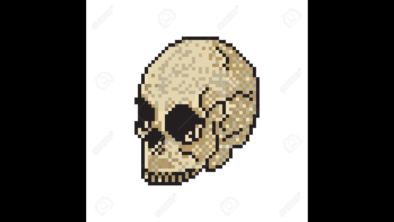 Tuto Pixel Art2tête De Mort Youtube