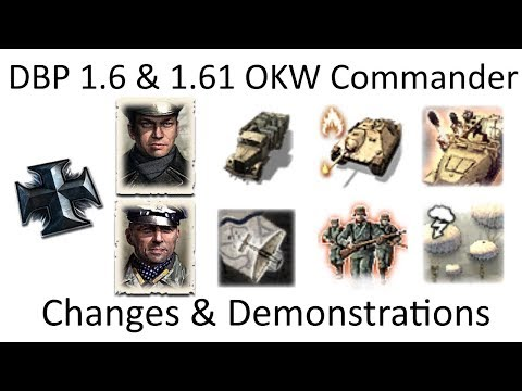 COH2 DBP 1.6 & 1.61 OKW Commander Analysis & Demonstrations