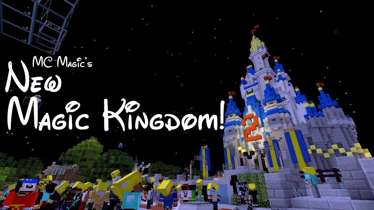 Minecraft Disney World Touring The NEW Magic Kingdom YouTube - Mcmagic us map download