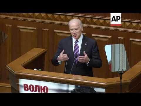 US VP addresses Ukraine parliament