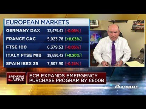 ECB expands emergency purchase program by €600 billion