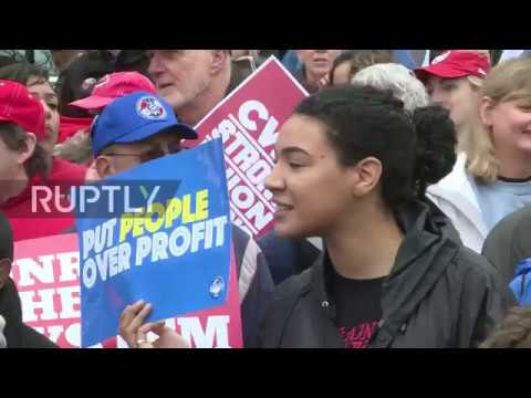 USA: Hundreds rally in DC for rights of working class ahead of Supreme Court vote