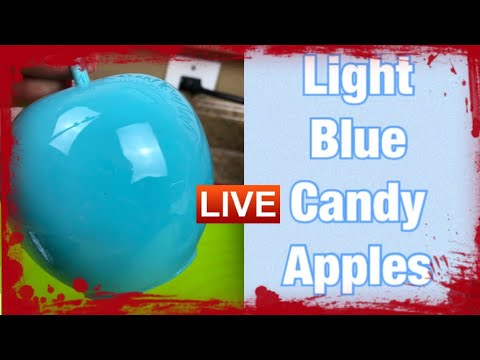 How To Achieve Light Blue Candy Apples
