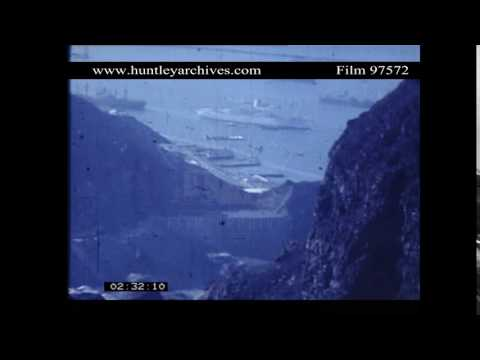 Aden Port in Aden Protectorate.  British warships.  Archive film 97572