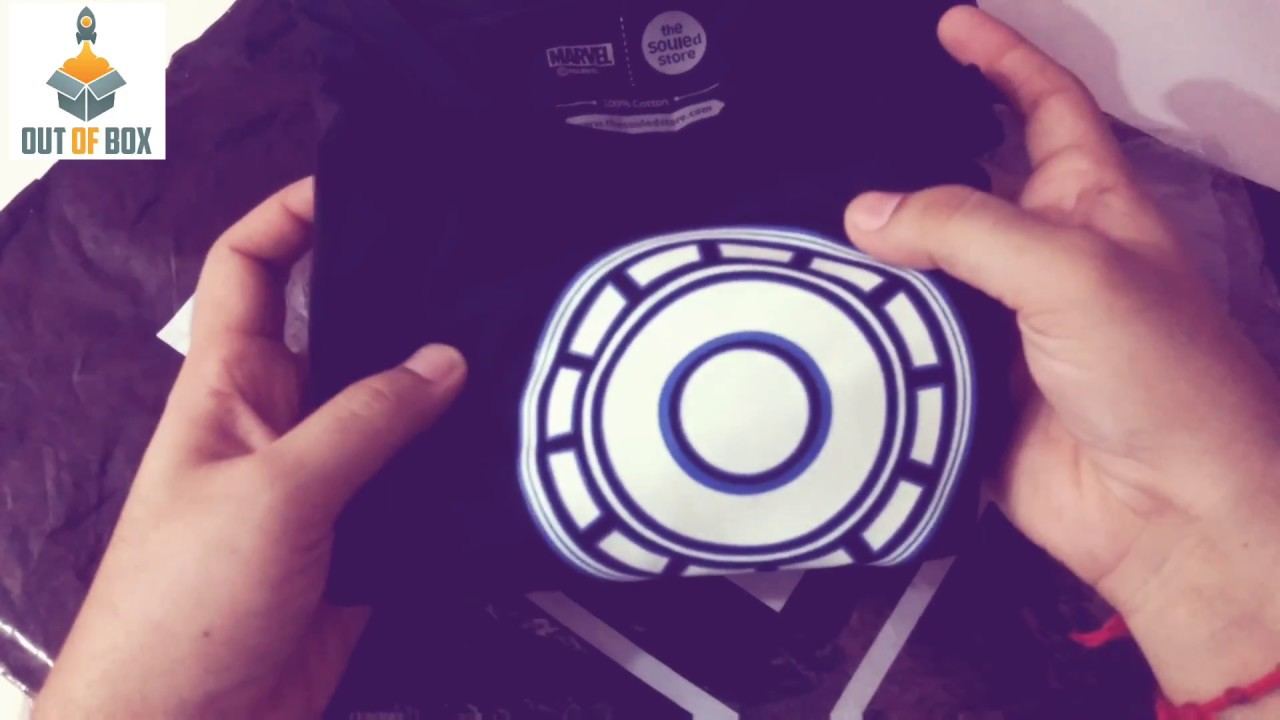 Iron Man Arc Reactor T Shirt Glow In Dark Unboxing Review