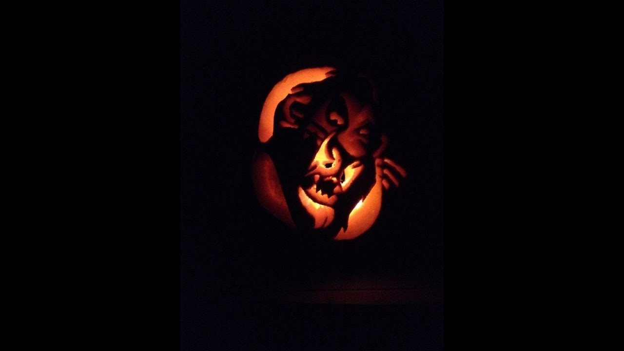 pumpkin drawing with shading. how to carve a pumpkin for halloween - disney lion king scar easy with shading! drawing shading e