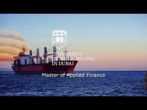 UOWD's Master Of Applied Finance